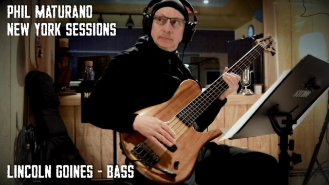 Lincoln Goines in Studio for Phil Maturano - New York Sessions