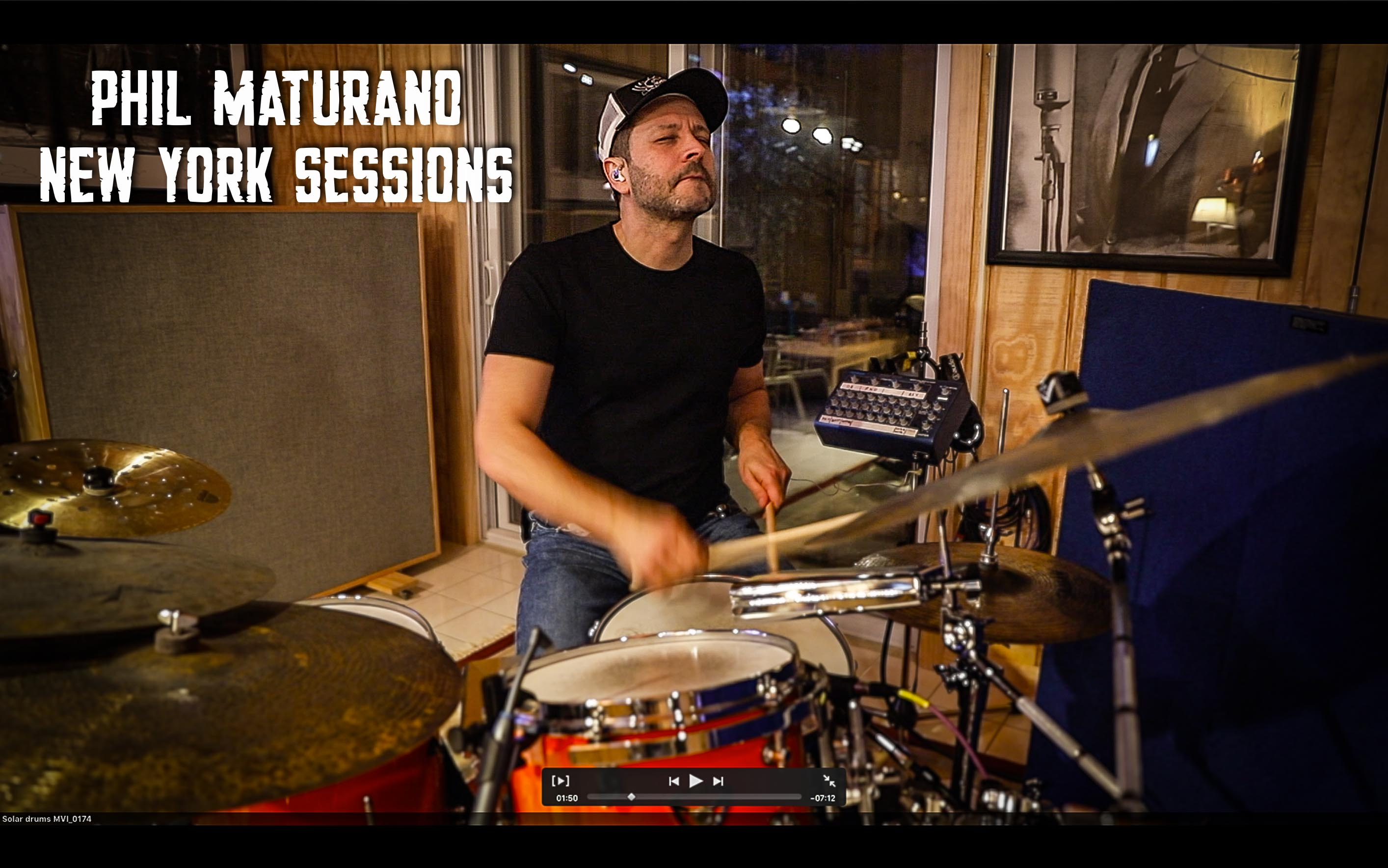 """Phil Maturano in studio for """"New York Sessions"""""""