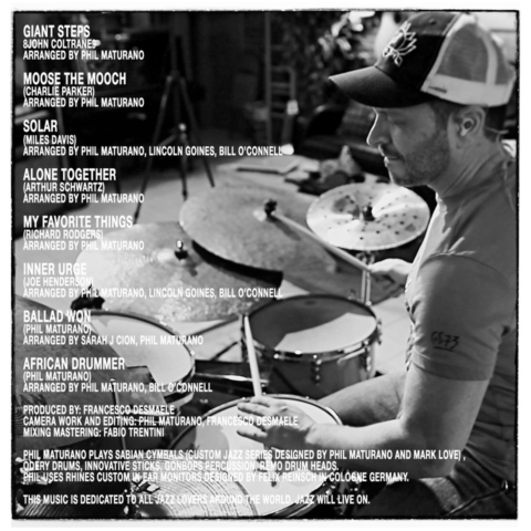 Back Cover Phil Maturano- New York Sessions