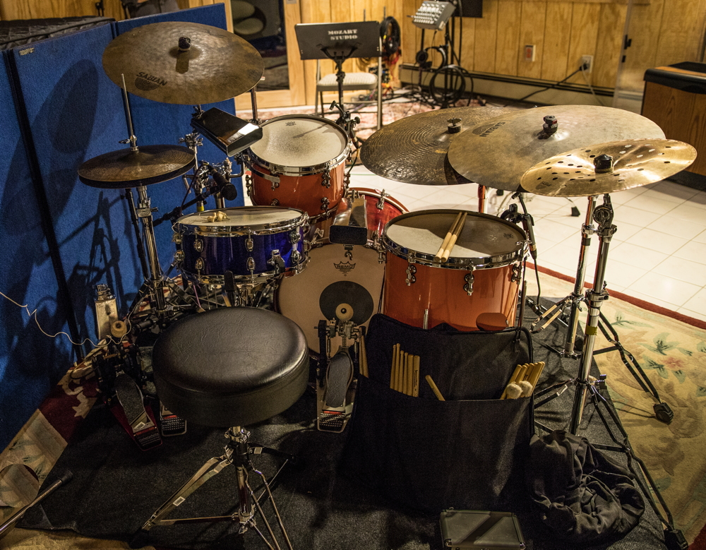 Phil's kit for the recording of the CD - Phil Maturano New York Sessions